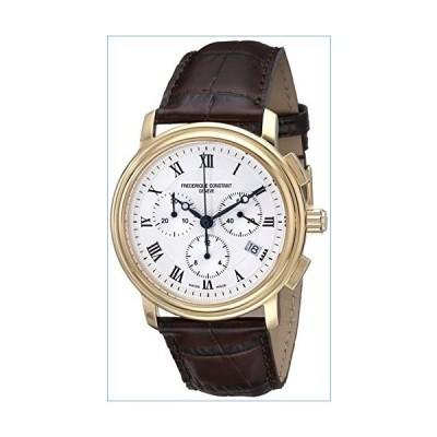 Frederique Constant Men's FC292MC4P5 Persuasion Brown Strap Chronograph Watch並行輸入品