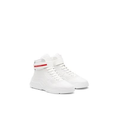 プラダ PRADA スニーカー シューズ 靴 ホワイト ヌバックレザー