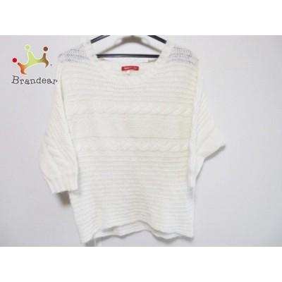 アプワイザーリッシェ 七分袖セーター サイズ2 M レディース 白 ドルマンスリーブ     スペシャル特価 20201201