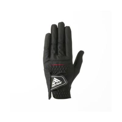 アドバイザー ADGL2018 ゴルフグローブ 左手用 ブラック サイズ S(22〜23cm)