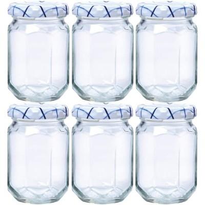 東洋佐々木ガラス 保存容器 クリア 約150ml ジャムびん 8角 日本製 HW-569-JAN 6個入