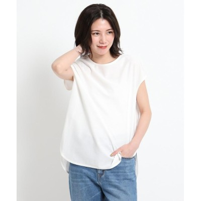 Dessin(Ladies)(デッサン(レディース)) 【XS~L・手洗い可能】シャツテールTシャツ