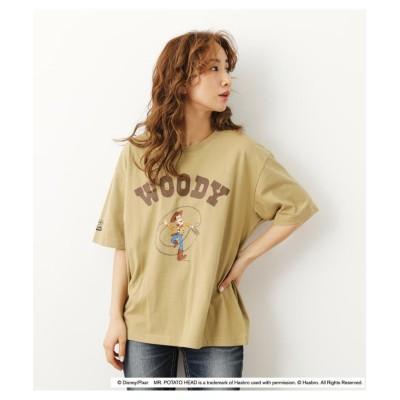 【ロデオクラウンズワイドボウル】 (TS) 4 COLORS Tシャツ レディース ベージュ FREE RODEO CROWNS WIDE BOWL