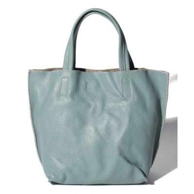 【ベース】 レザーインバッグ付きトートバッグ レディース ライト ブルー FREE BASE