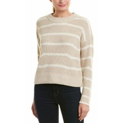 ファッション トップス Design History Cropped Stripe Wool-Blend Sweater Xs Brown