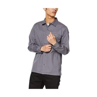 [セシール] シャツジャケット ストレッチ ツイルシャツ カジュアル JE-817 メンズ グレー 日本 LL (日本サイズ2L相