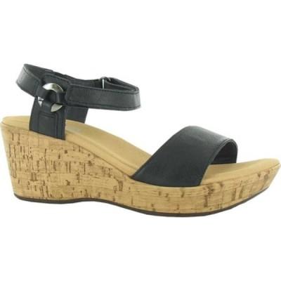 ナオト サンダル シューズ レディース Pier Wedge Ankle Strap Sandal (Women's) Soft Black Leather