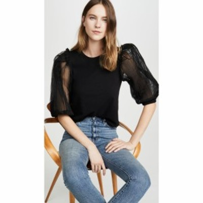 シー Sea レディース Tシャツ トップス Olive T-Shirt Black