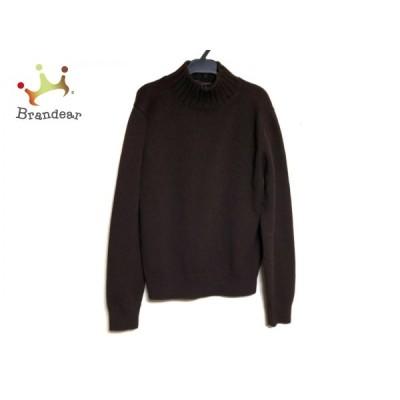 クルチアーニ 長袖セーター サイズ50 XL レディース - ダークブラウン ハイネック/カシミヤ 新着 20201124