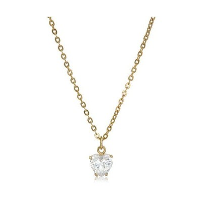 1928 Jewelry 14k Gold-Dipped Cubic Zirconia Heart Adjustable Pendant Neckla