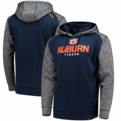 Fanatics Branded ファナティクス ブランド スポーツ用品  Fanatics Branded Auburn Tigers Navy/Charcoal Static Raglan Sleeve Pullove
