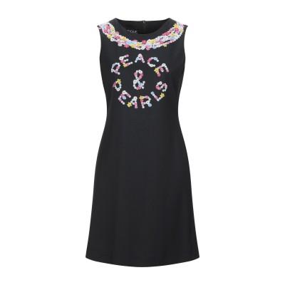 BOUTIQUE MOSCHINO ミニワンピース&ドレス ブラック 42 ポリエステル 96% / ポリウレタン 4% ミニワンピース&ドレス