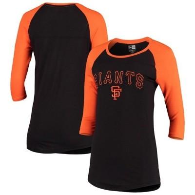 ニューエラ レディース Tシャツ トップス San Francisco Giants New Era Women's Cooperstown Collection 3/4-Sleeve T-Shirt
