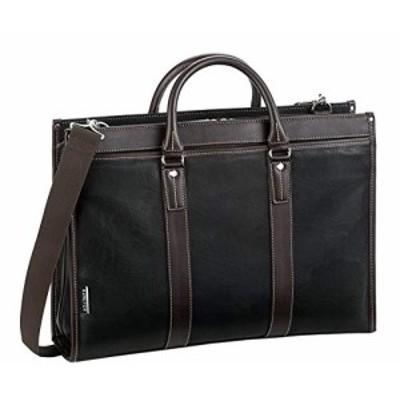 ブリーフケース ビジネスバッグ ショルダーバッグ ショルダーベルト 2way メンズ B4 A4 横幅42cm 黒 ブラック 通勤 ビジネス