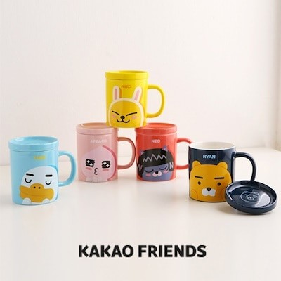 Kakao friendsカカオフレンズシグネチャー蓋マグ / Kakao friends signature cap mug / 5種 / コップ / カップ / 陶磁器