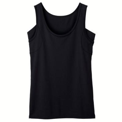 スマートドライ® 汗取りパッド付きノースリーブ(BASICシリーズ)/ブラック/LL