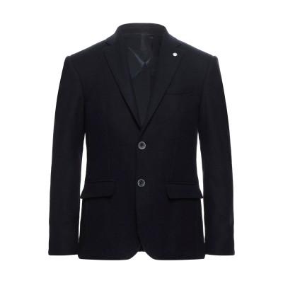 DOMENICO TAGLIENTE テーラードジャケット ダークブルー 46 バージンウール 90% / カシミヤ 10% テーラードジャケット