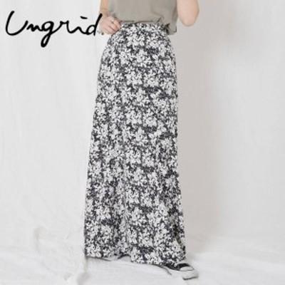 Ungrid アングリッド フラワープリントフィットマキシスカート 112020858801【2020】【SS】【2020春夏】【入荷】