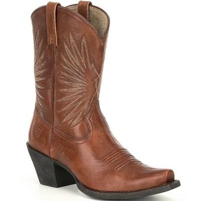 アリアト レディース ブーツ・レインブーツ シューズ Goldie Leather Western Snip Toe Mid Boots