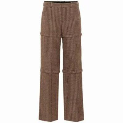 バレンシアガ その他ボトムス・パンツ Checked wool pants Brown