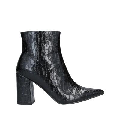 PUBLIC DESIRE ショートブーツ ブラック 8 紡績繊維 ショートブーツ