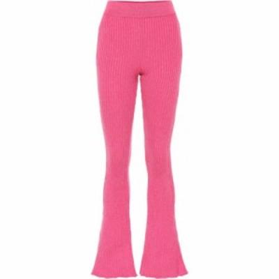 ロエベ Loewe レディース ボトムス・パンツ Wool-blend flared pants Pink