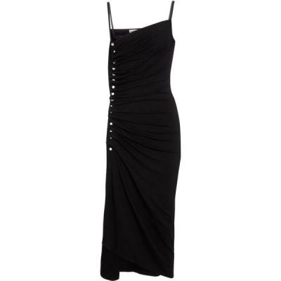 パコラバンヌ Paco Rabanne レディース パーティードレス ミドル丈 ワンピース・ドレス embellished jersey midi dress Black