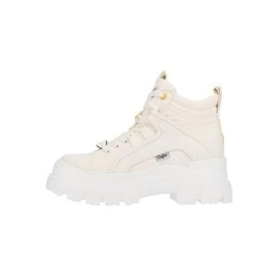 バッファロー レディース 靴 シューズ Lace-up ankle boots - white