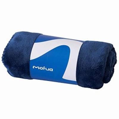 mofua (モフア) ひざ掛け 毛布 70×100cm ネイビー あったか 冬用 ブランケット モフモフ