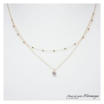 K18 ダイヤモンドペンダントネックレス