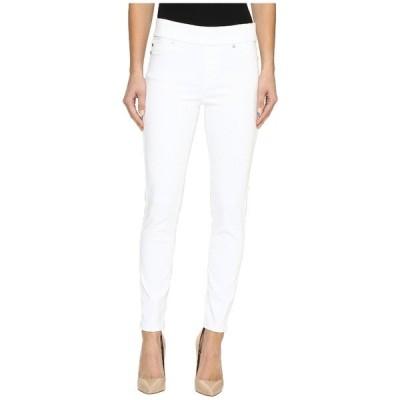 リバプール デニム ボトムス レディース Sienna Pull-On Ankle Slub Stretch Twill in Bright White Bright White