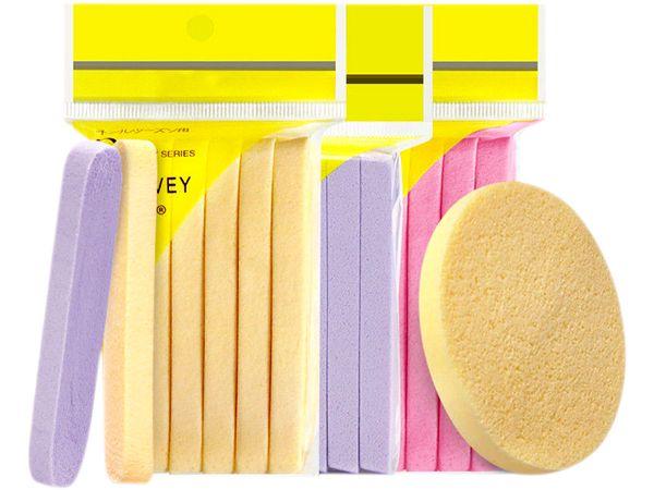 洗臉壓縮海綿(圓形)12入 顏色隨機【DS001299】