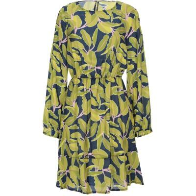 ANGELA MELE MILANO ミニワンピース&ドレス ビタミングリーン XS ポリエステル 100% ミニワンピース&ドレス