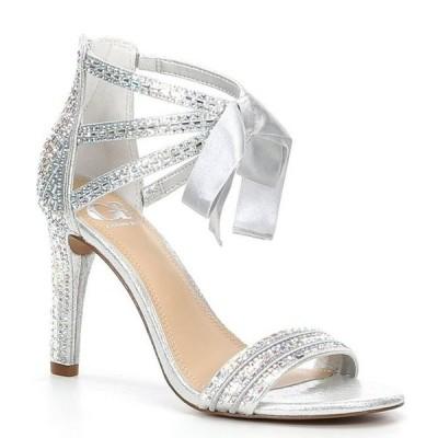 ジービー レディース サンダル シューズ Prom-Queen Rhinestone Bow Stiletto Dress Sandals
