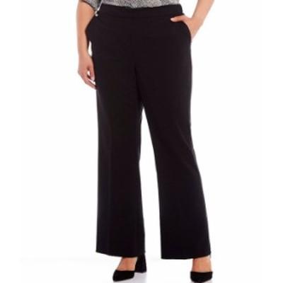 カルバンクライン レディース カジュアルパンツ ボトムス Plus Size Lux Stretch Wide Leg Pants Black