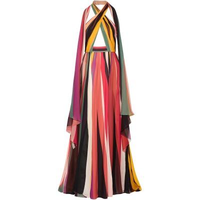 エリー サーブ ELIE SAAB ロングワンピース&ドレス イエロー 38 シルク 75% / ポリエステル 25% ロングワンピース&ドレス