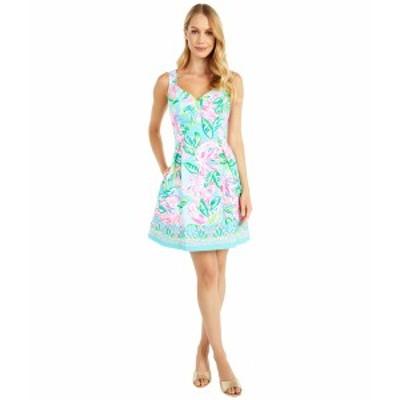リリーピュリッツァー レディース ワンピース トップス Linnet Stretch Dress Multi Totally Blossom Engineered Woven