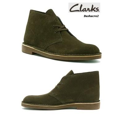 クラークス ブッシュエーカー2 Clarks Bushacre2 Dark Green Suede #26107712