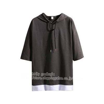 送料無料!Tシャツ ファッション メンズ 短袖 ゆったり 夏 パーカー バットシャツ 無地 軽い 柔らかい