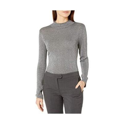 並行輸入品Vince Camuto レディース ルレックス モックネックセーター US サイズ: X-Large カラー: グレイ