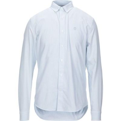 ティンバーランド TIMBERLAND メンズ シャツ トップス striped shirt Azure