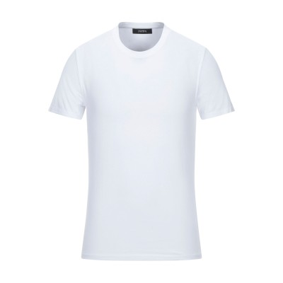 アルファスタジオ ALPHA STUDIO T シャツ ホワイト 48 コットン 92% / ポリウレタン 8% T シャツ