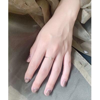 Newport / Herkimer Diamond Ring K10GOLD WOMEN アクセサリー > リング
