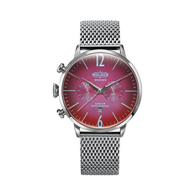 Welder Moody Stainless Steel Mesh Dual Time Watch with Date 45mm 並行輸入品