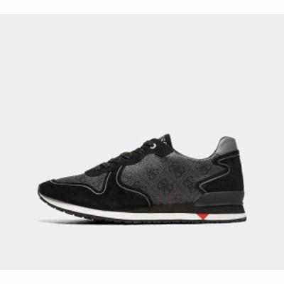 ゲス Guess メンズ スニーカー シューズ・靴 new glory trainer Black Print/White