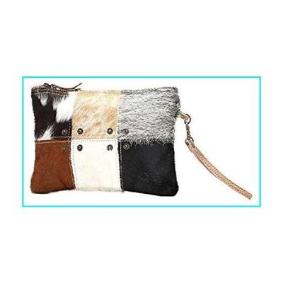 Myra Bag Button Squares Cowhide Leather Wristlet Bag S-0988【並行輸入品】