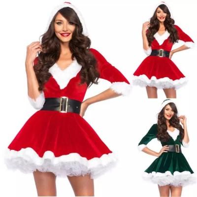 コスプレ サンタクロース  ディズニー 衣装 ハロウィン ハロウィーン クリスマス ドレス