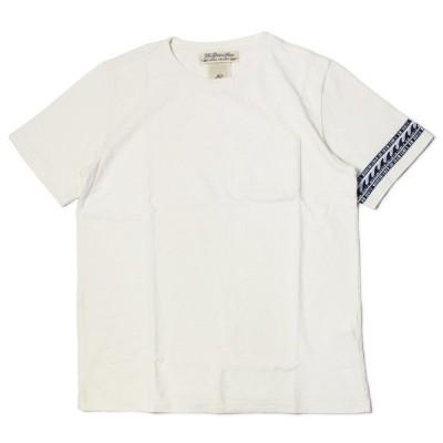 【ネコポス】レミレリーフ / REMI RELIEF / Tシャツ / インディゴ ジャガード 切り替え ボーダー 2 / 返品・交換可能