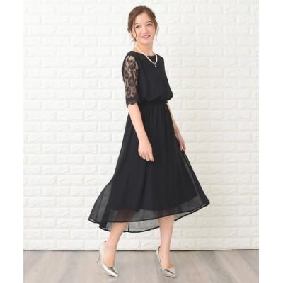 Lace Ladies / 花柄袖レースフィッシュテールフォーマルワンピースドレス WOMEN ワンピース > ドレス