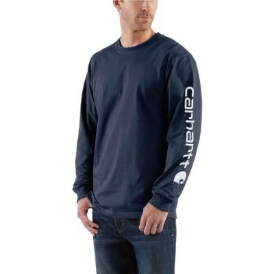 カーハート CARHARTT メンズ 長袖Tシャツ ロゴTシャツ トップス Long-Sleeve Graphic Logo Tee NAVY NVY